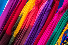 Colored fabric. In vibrant colors as seen on the market Stock Photography