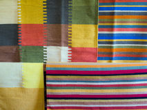 Colored fabric. Colorful cotton fabric made in handloom Royalty Free Stock Image