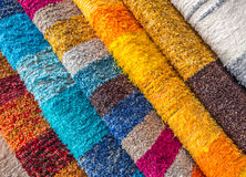 Colored fabric. Colorful fabric on the market in Andalusia Royalty Free Stock Images