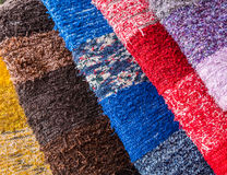 Colored fabric. Colorful fabric in yhe market in Andalusia, Spain Royalty Free Stock Photos