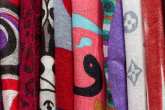 Colored fabric Stock Photos