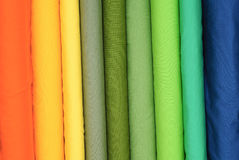 Colored fabrics Stock Images