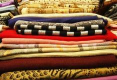 Colored fabrics Stock Photos
