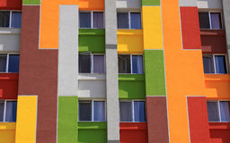 Colored facade of an apartment building Royalty Free Stock Image