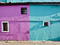 Colored facade in Burano. Venice Stock Photo