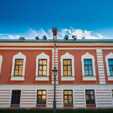 Colored facade. St.Petersburg palace royalty free stock photography