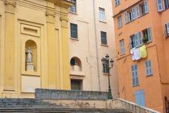 Colored facades of Bastia Stock Image