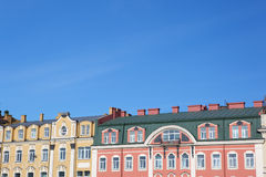 Colored facades. Royalty Free Stock Photo