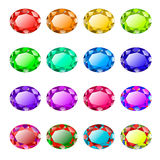Colored faceted stones Royalty Free Stock Photos