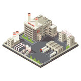 Colored Factory Industrial Area Isometric Royalty Free Stock Images