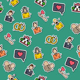Colored family pattern Stock Photos