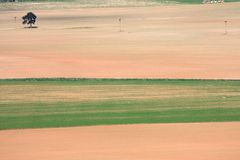 Colored farm fields Royalty Free Stock Photos