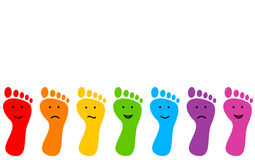 Colored feet Stock Photography