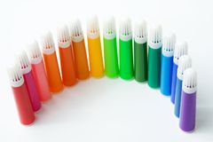 Colored Felt Pens Royalty Free Stock Image
