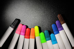 Colored felt pens Stock Image