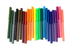 Colored felt tip pens Stock Photos