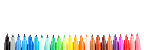 Colored felt-tip pens Royalty Free Stock Photos