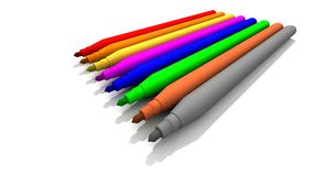 Colored Felt-Tips Royalty Free Stock Images