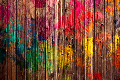 Colored Fence Stock Image