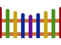 Colored fence isolated on white background Stock Photo