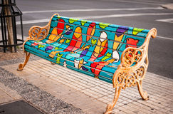 Colored fench on the street Royalty Free Stock Image