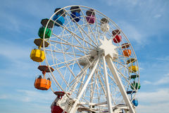 A colored ferris wheel Royalty Free Stock Images
