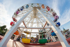 A colored ferris wheel Stock Photo