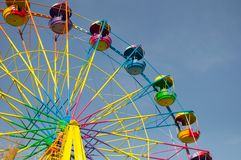 Colored ferris wheel Royalty Free Stock Images