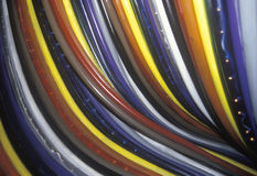Colored fiber optic cables Royalty Free Stock Photos