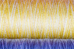 Colored Fibre Texture. Spools Stock Photo