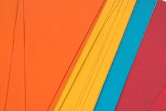 Colored file folders. Several colored file paper folders Royalty Free Stock Photography