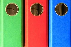 Colored file folders Stock Photos