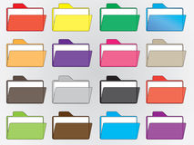 Colored file folders Stock Image