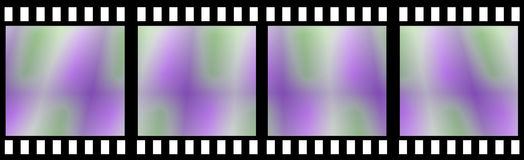 Colored Film Strip. Isolated in white Stock Images