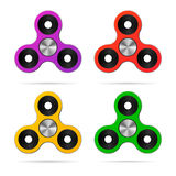 Colored finger hand spinner set. Realistic vector Royalty Free Stock Image