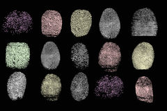 Colored finger prints Royalty Free Stock Photos