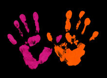 Colored fingerprint royalty free stock photography
