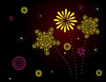 Colored firework Royalty Free Stock Images