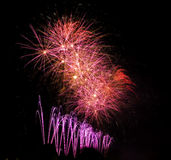Colored fireworks Stock Image