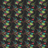 Colored fireworks. Decorative seamless pattern. Vector Stock Photo
