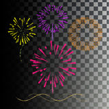 Colored fireworks. Explosion colored paints Royalty Free Stock Image
