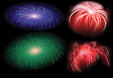 Colored fireworks. A new colored fireworks illustration Royalty Free Stock Photography