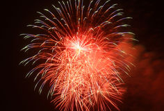 Colored fireworks. In the night Royalty Free Stock Photo