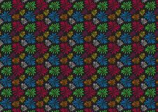 Colored fireworks pattern wallpaper design. For use as background artwork royalty free illustration