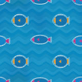 Colored fish seamless pattern. (eps 10  file Stock Photo