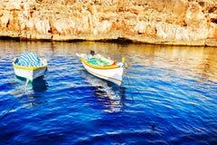 Colored fishing boats, Malta Royalty Free Stock Photo