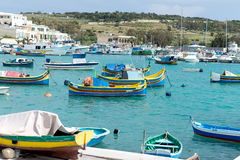 Colored fishing boats in Malta Stock Image