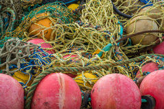 Colored fishing net Stock Photo