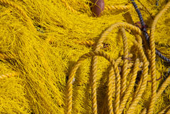 Colored fishing net Royalty Free Stock Photos