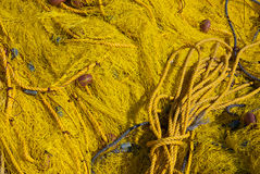 Colored fishing net Royalty Free Stock Photo
